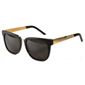 Super People Black/Gold Metal 348 Sunglasses