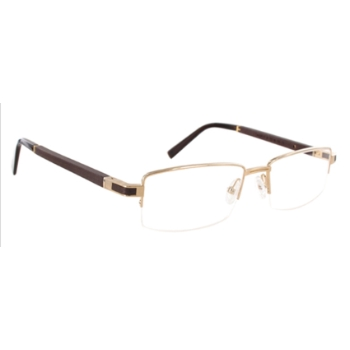 Gold & Wood Canopus Eyeglasses