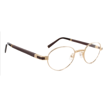 Gold & Wood Magellan Eyeglasses