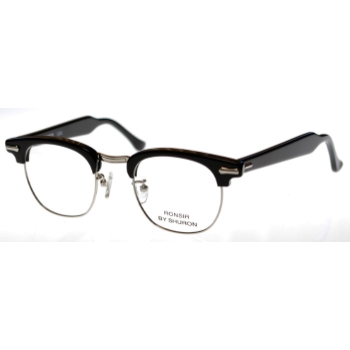 fee9c7a6d79 Optometrist Attic - SHURON RONSIR ZYL EBONY SILVER EYEGLASSES Mens  Eyeglasses