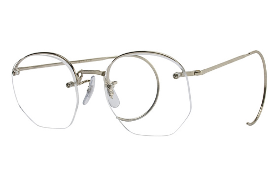 how to put lens back in rimless glasses
