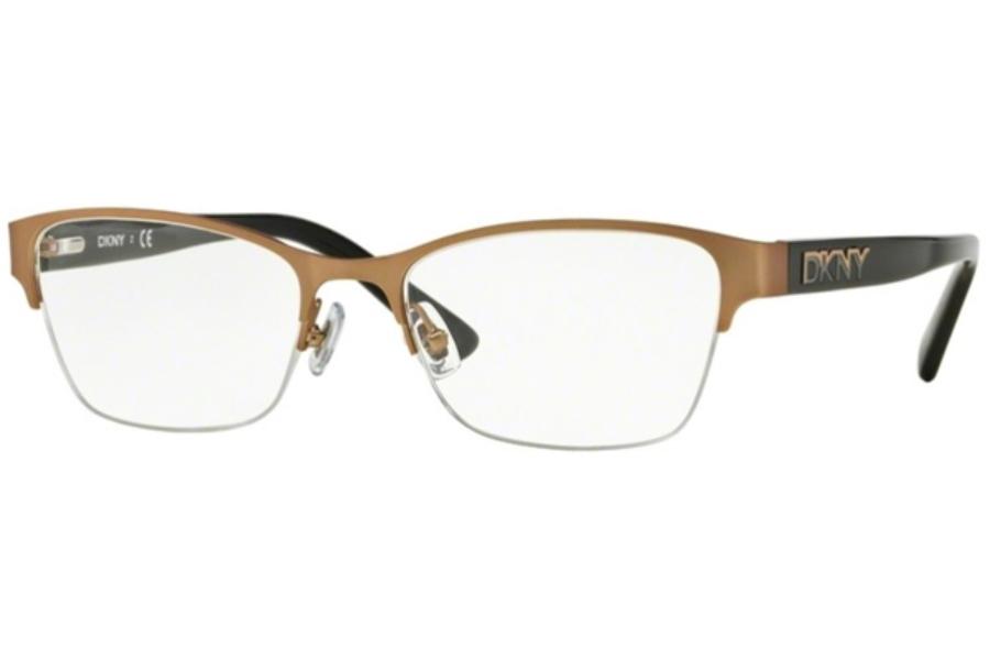 dkny dy 5653 eyeglasses in 1228 satin rose goldblack - Dkny Frames