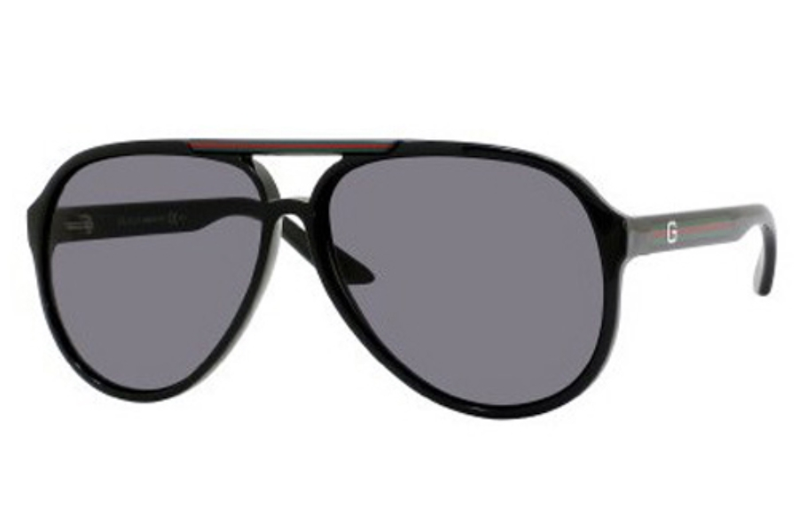 gucci 1627s sunglasses in 0d28 shiny black r6 gray lens