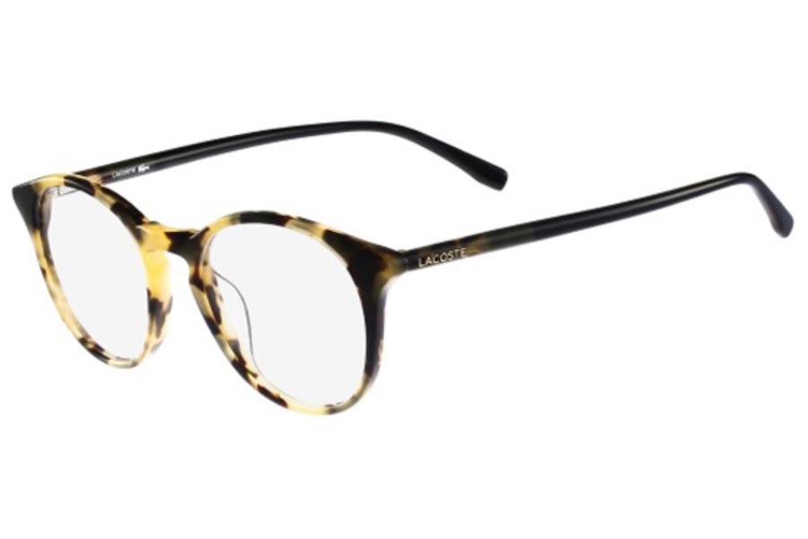 lacoste l2750 eyeglasses in 215 khaki havana