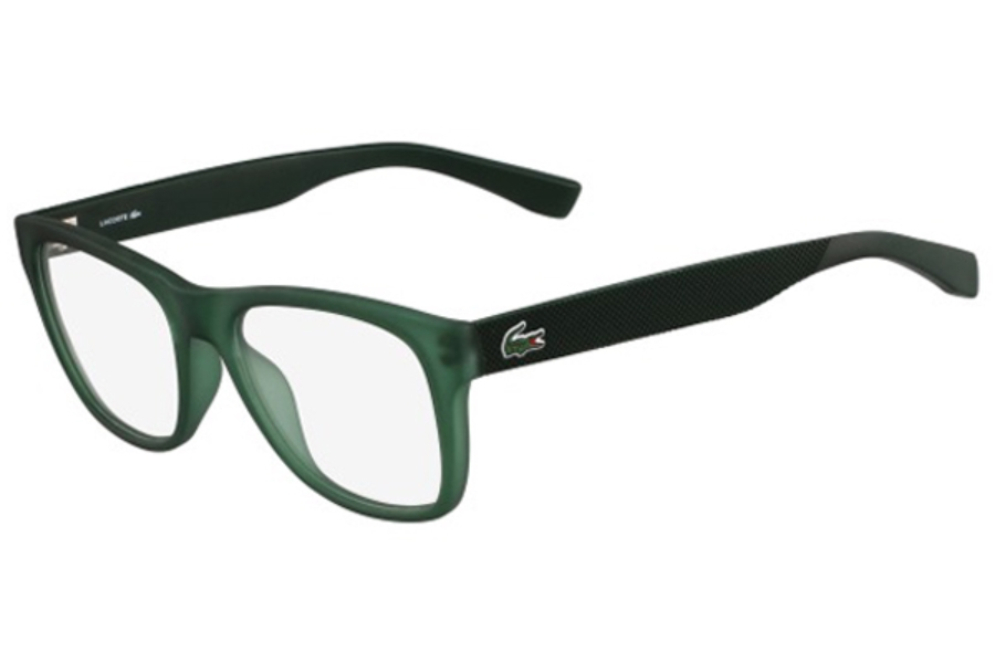 lacoste l2766 eyeglasses in 315 green matte