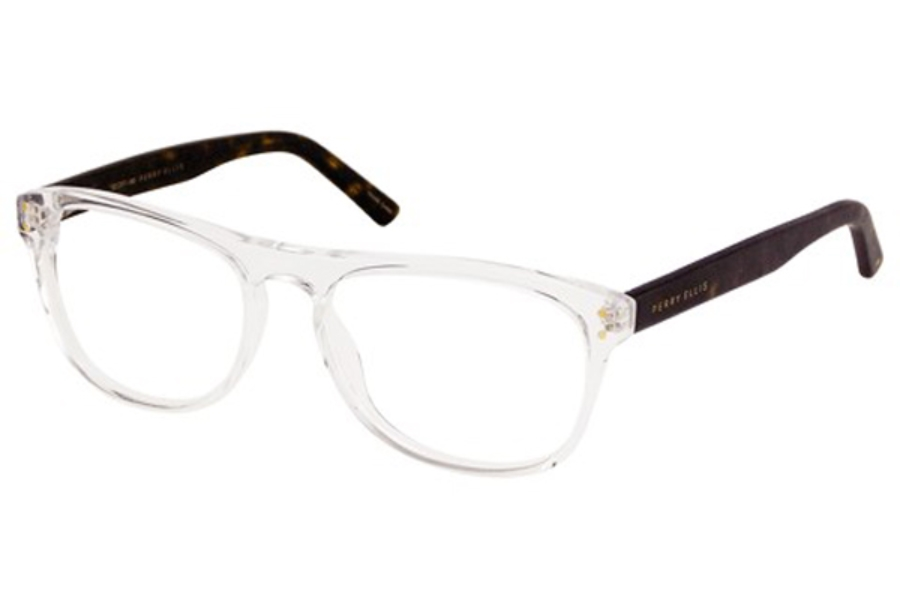 perry ellis pe 359 eyeglasses in clear crystal