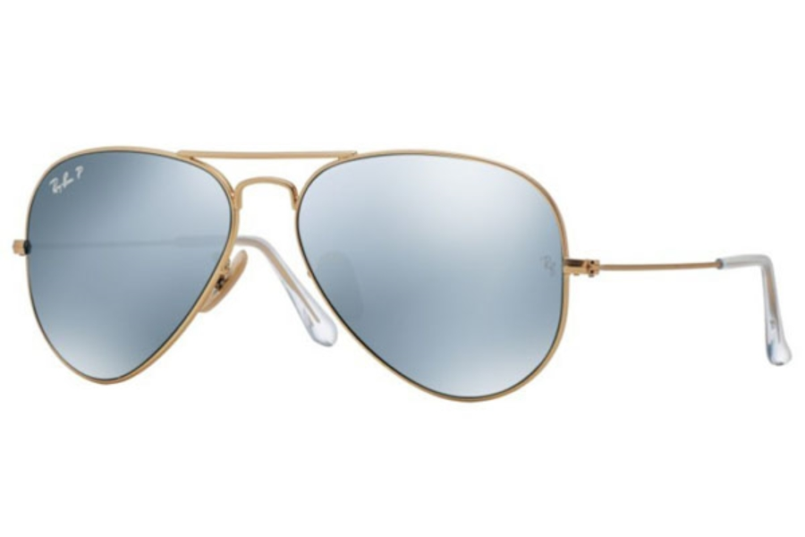 ray ban 3025 aviator sunglasses 61mw  Ray-Ban RB 3025 Aviator Large Metal with Polarized Lenses Sunglasses  in 112