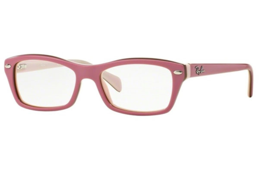 ray ban youth eyeglass frames  ray ban youth ry 1550 eyeglasses in 3656 top pink on brown pink