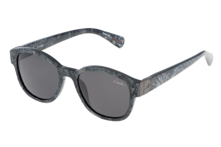f9f55c12fb ... LANVIN SLN 623M Sunglasses in 09AY Grey Stone Effect Grey ...