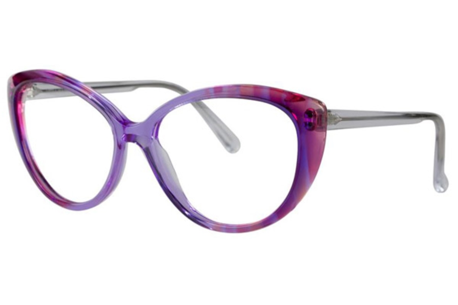 vera wang ophelia eyeglasses in purple velvet