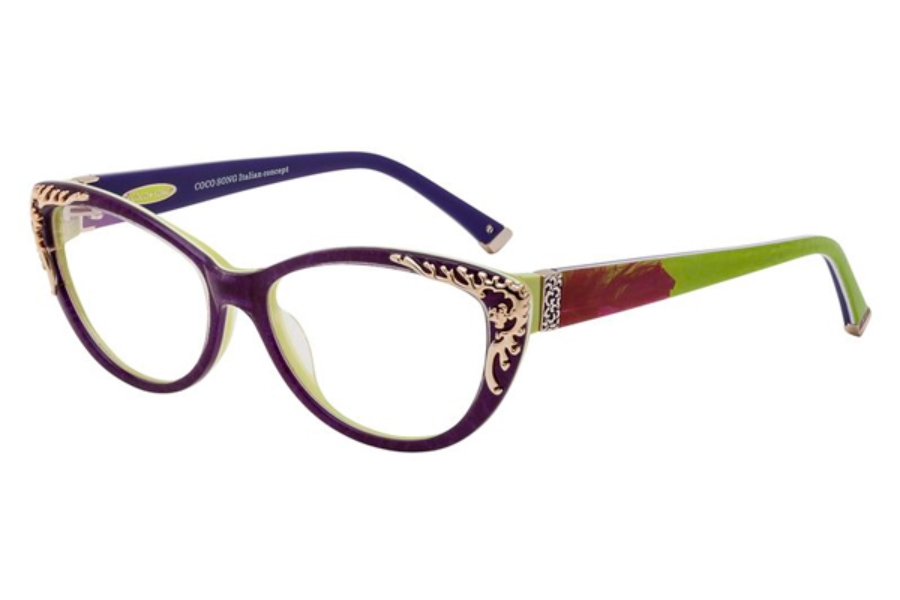 coco song golden eyeglasses by coco song free